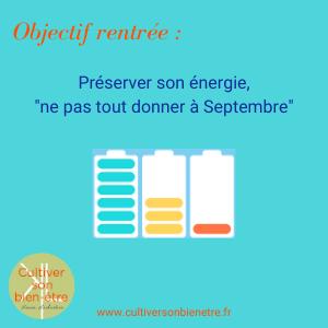 Objectif rentrée : préserver son énergie